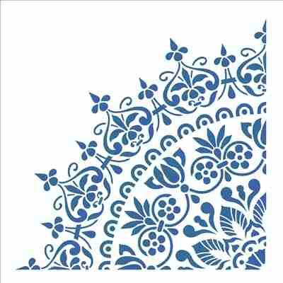 Mandala azul e branca