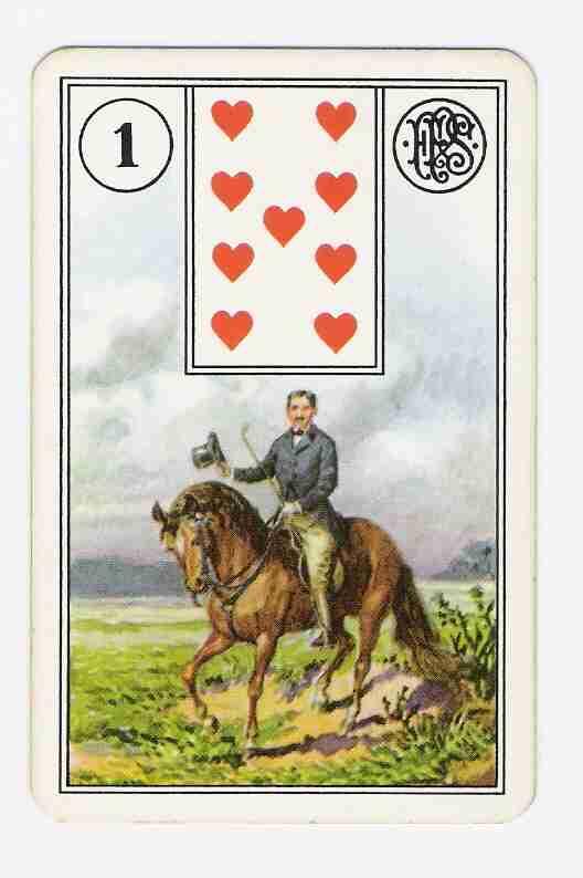 Carta 1 do Baralho Cigano O Cavaleiro