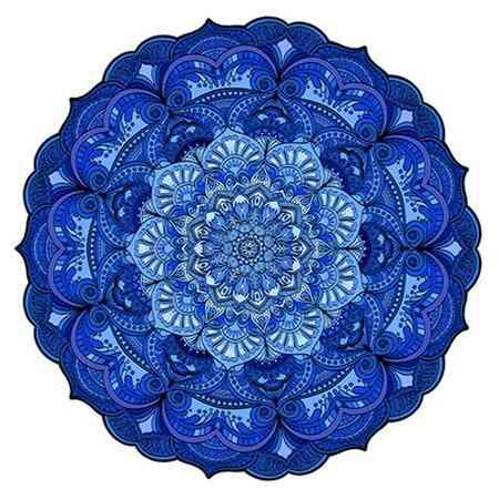 Mandala azul marinho