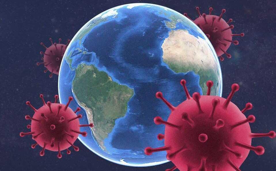 O coronavírus espalhado ao redor do globo terrestre