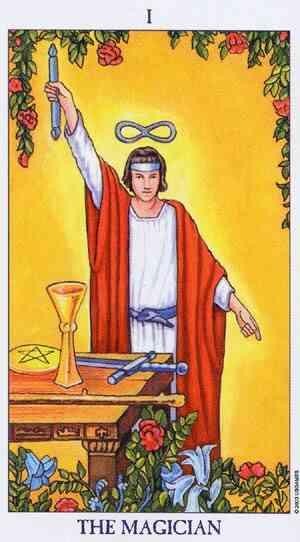 O Mago do Tarot, Arcano 1 - Tarot de Waite