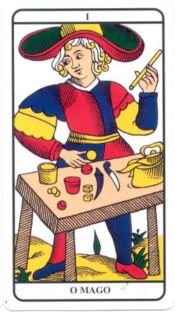 Carta do Tarot de Marselha - O Mago, Arcano 1
